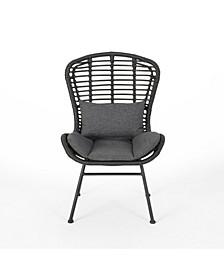 La Habra Outdoor Club Chairs, Set of 2