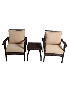 Bradley 3 Piece Outdoor Chat Set with Cushions