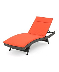 Salem Outdoor Chaise Lounge with Cushion