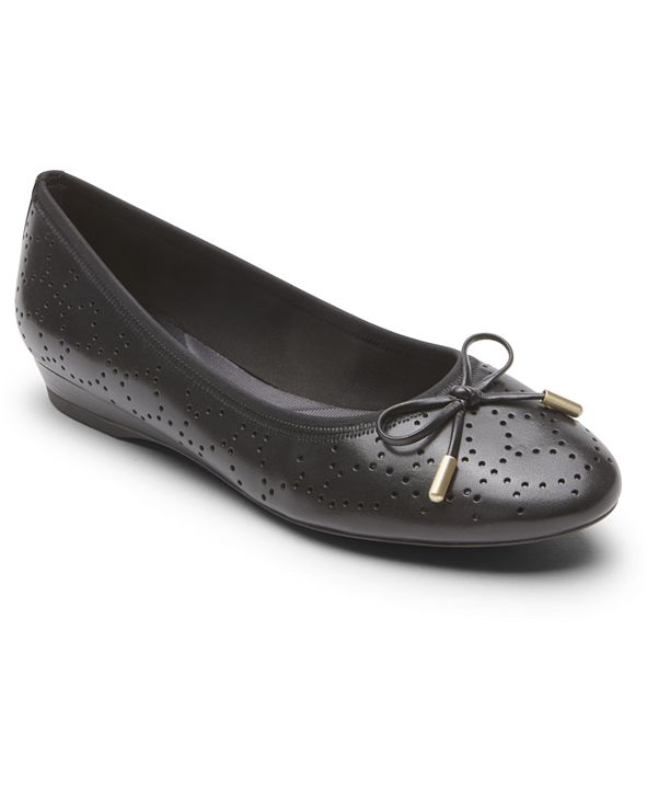 Rockport Women's Total Motion Shea Perforated Bow Flats