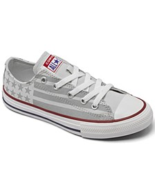 Boys' Chuck Taylor Stars and Stripes Ox Low-Top Casual Sneakers from Finish Line