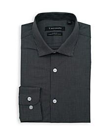 Men's Slim Fit Non-Iron, Moisture Wicking Dress Shirt - Micro Check Print