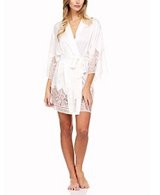 Genevive Lace Wrap Robe