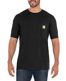Men's Short Sleeve Jersey Plaited Performance Pocket Tee