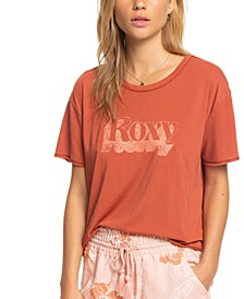 Juniors' Don't Look Back Cotton Cropped T-Shirt