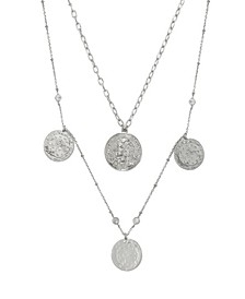 Elite Coin And Crystal Layered Women's Necklace Set