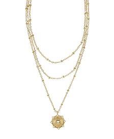 Compass Keepsake Layered Women's Necklace