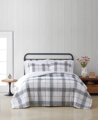 Cottage Plaid Twin XL 2 Piece Comforter Set