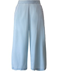 Chambray Culotte Pants