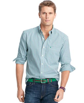 IZOD Tattersall Button-Down Shirt - Casual Button-Down Shirts ...