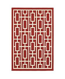 "Apex APE13 Red 3'7"" x 5'6"" Area Rug"