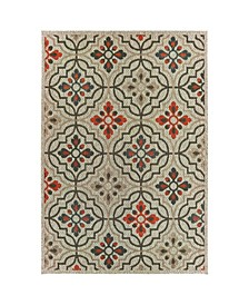 "Scope SCO08 Gray 6'7"" x 9'2"" Area Rug"