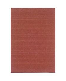 "Veranda VER05 Red 1'8"" x 3'7"" Area Rug"