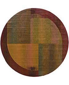 Kismet KIS010 Green 8' Round Rug
