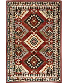 "Romeo ROM01 Red 5'3"" x 7'3"" Area Rug"