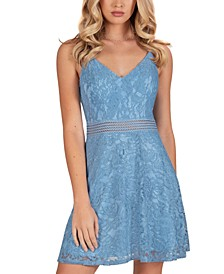 Juniors' Lace Skater Dress