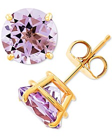 Pink Amethyst Stud Earrings (3-1/2 ct. t.w.) in 10k Gold