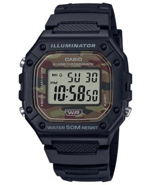 Men's Digital Black Resin Strap Watch 43.2mmx43.2mm