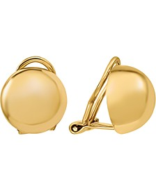 Polished Button Clip-On Earrings