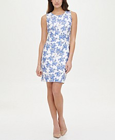 Scuba Printed Sheath Dress
