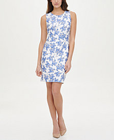 Tommy Hilfiger Scuba Printed Sheath Dress