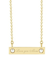 Holly Pearl Love You Mom Necklace