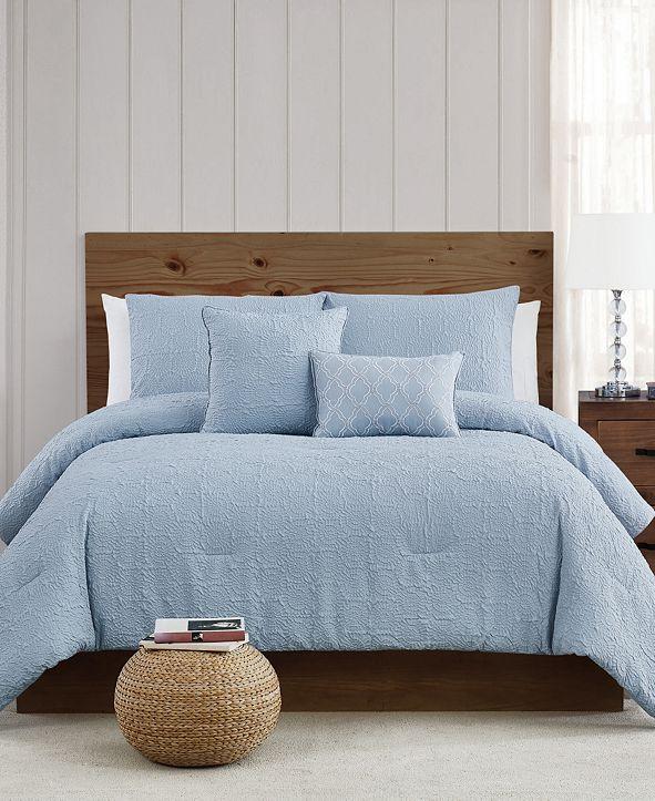 Style 212  Daisy Textured King Comforter Set