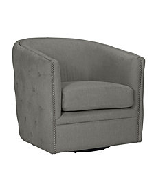 Handy Living Chios Button Tufted Swivel Chair