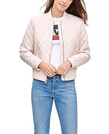 Diamond Quilted Bomber Jacket