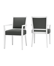 Brandy Upholstered Arm Dining Chair Set of 2