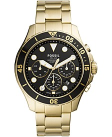 Men's Chronograph FB-03 Gold-Tone Stainless Steel Bracelet Watch 46mm