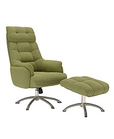Lisbon Contemporary Swivel Rocker Chair and Ottoman