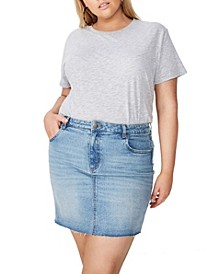 Curve Denim Skirt