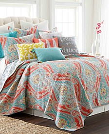 Greenwich Reversible Full/Queen Quilt Set