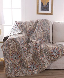 Kasey Damask Reversible Quilted Throw