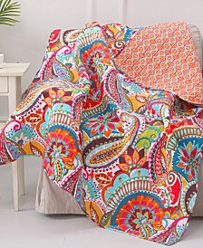 Rhapsody Paisley Reversible Quilted Throw