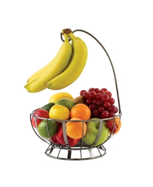 Mikasa Band and Stripe Fruit Basket with Banana Hook