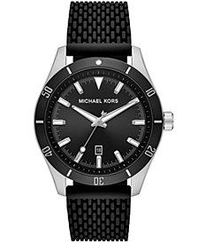 Michael Kors Layton Three - Hand Black Silicone Mesh Watch
