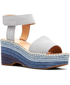 Frye & Co Women's Amber Sculpted Platform Espadrille Wedges