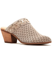 Frye & Co Women's Jacy Perforated Slip-On Mules