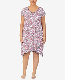 Women's Plus Size Short Sleeve Chemise