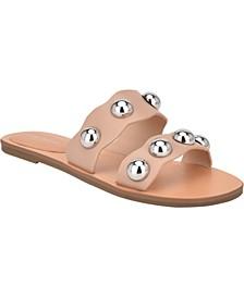 Bocci Ball-Stud Slide Sandals