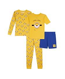 Little Boys 4 Piece Pajama Set