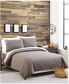 Sherpa Lined Flannel King Quilt Set