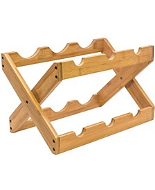 Bamboo Foldable Countertop Wine Rack