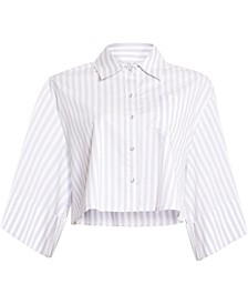 Pinstriped Boxy Shirt