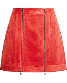 Faux-Suede Mini Skirt