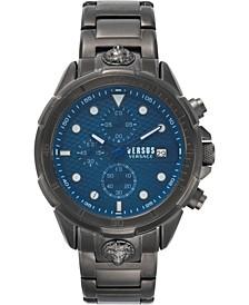 Men's Chronograph 6E Arrondissement Gunmetal Stainless Steel Bracelet Watch 46mm