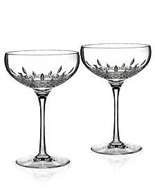 Stemware, Lismore Essence Champagne Saucer Glass Pair
