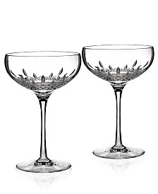 Waterford Stemware, Lismore Essence Champagne Saucer Glass Pair